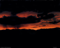 Rocky Mountain Sunset - July 15, 1984